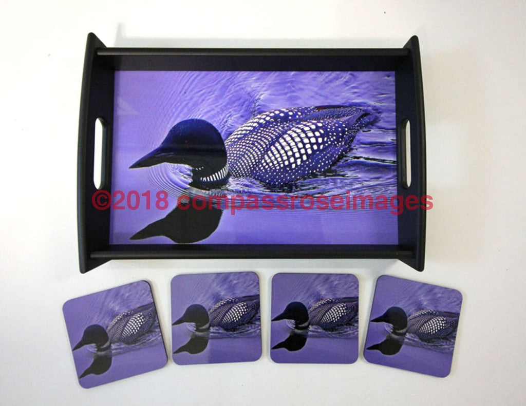 Loon Tray and Coasters 6