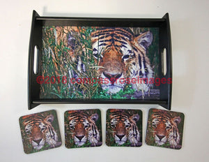 Tiger Tray and Coasters 9
