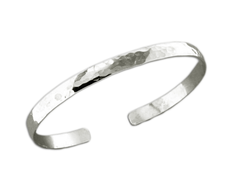 B064010* - Hammered Sterling Silver Cuff Bracelet