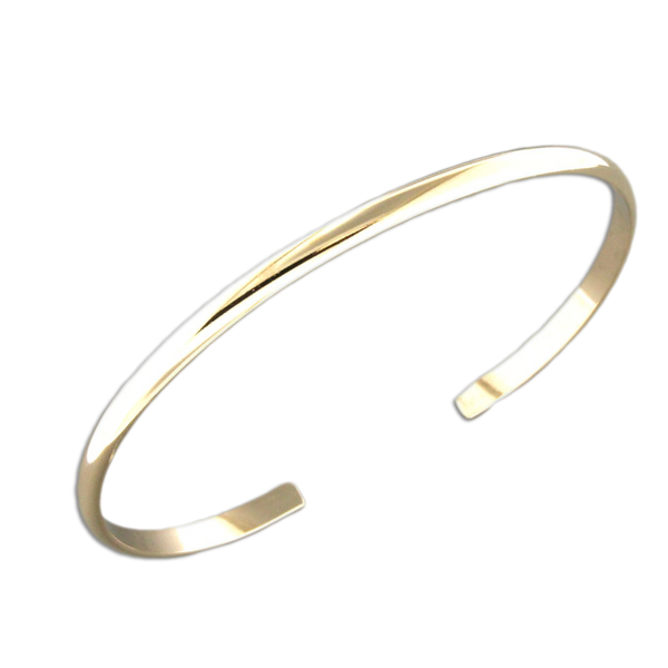 B064012 - Gold-Filled Thin Cuff Bracelet