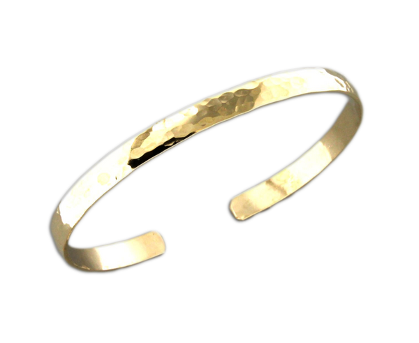 B064013* - Hammered Gold-Filled Cuff Bracelet