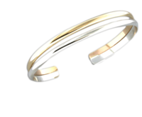 B064015* - Sterling Silver and Gold-Filled Cuff Bracelet