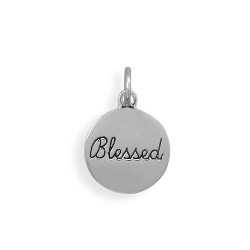 C005021 - Sterling Silver 'Blessed' Charm