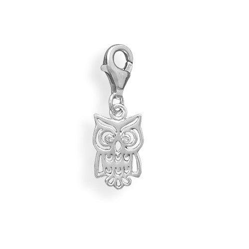 C005035 - Sterling Silver Owl Charm