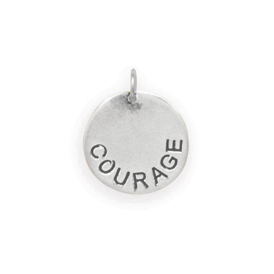 C005036* - Sterling Silver 'Courage' Charm