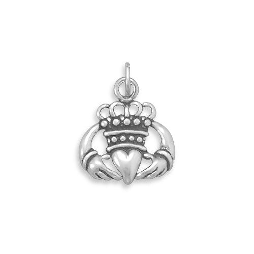 C005043* - Oxidized Claddagh Charm