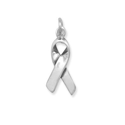 C005083* - Sterling Silver Small Ribbon Charm