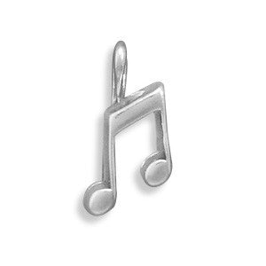 C005102 - Sterling Silver Music Note Charm