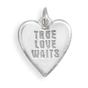 "C005125* - ""True Love Waits"" Sterling Silver Charm"
