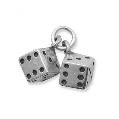C005143* - Sterling Silver Pair of Dice Charm