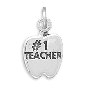 C005148* - Sterling Silver #1 Teacher Charm