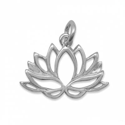 C005153* - Sterling Silver Lotus Flower Charm