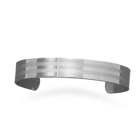 CB05015* - Men's Stainless Steel 3-Row Cuff