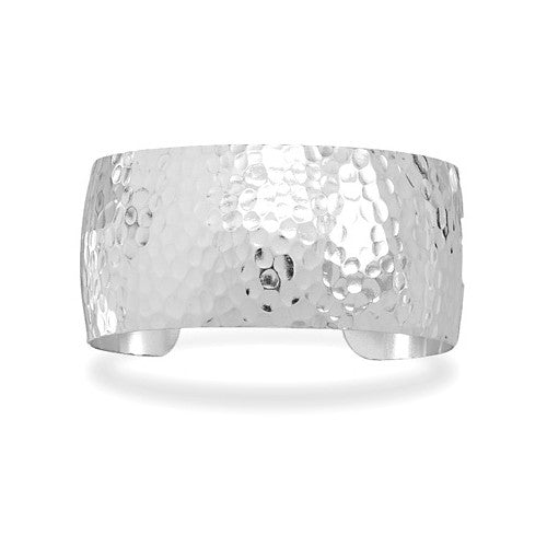 CB05019* - Sterling Silver Hammered Cuff