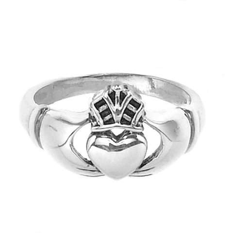 CR05016* - Sterling Silver Claddagh Ring
