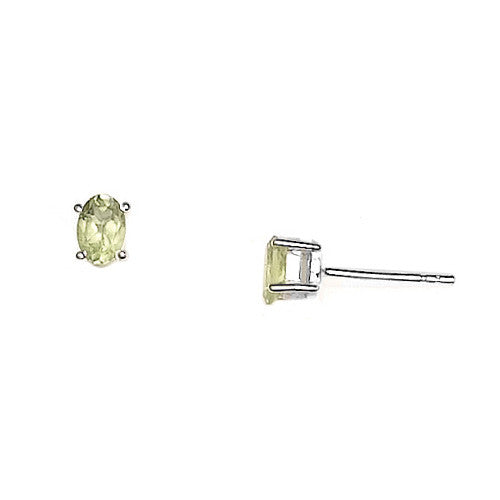 E005144* - Peridot and Sterling Silver Post Earrings