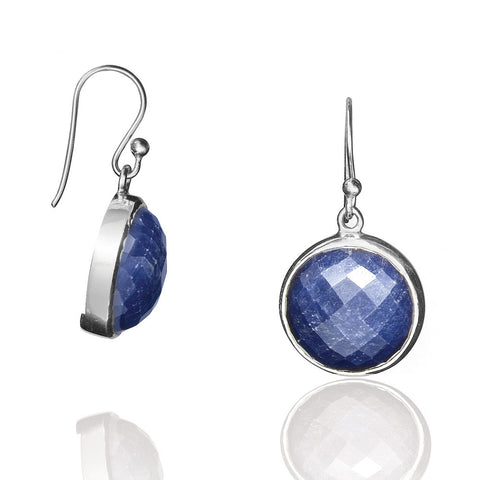 E005164* - Rough Cut Sapphire Earrings