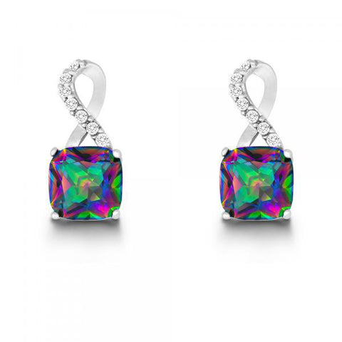 E028039 - Mystic Cubic Zirconia and Clear Cubic Zirconia Earrings