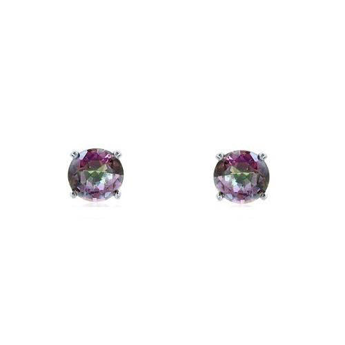 E028047 - 8mm Round Mystic Cubic Zirconia Stud Earrings