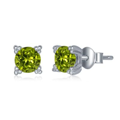 E028140 - Sterling Silver and Peridot Post Earrings
