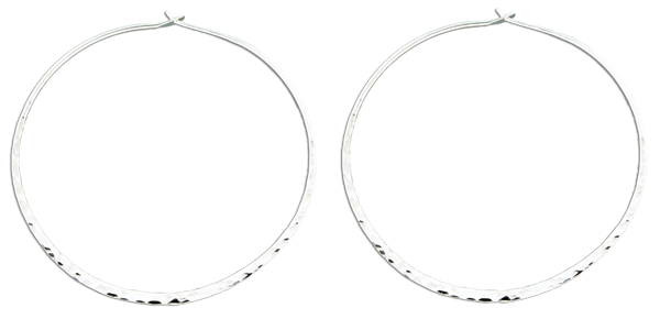 90c59fd0a E064011 - Extra Large Hammered Sterling Silver Hoop Earrings – Lionne  Designs