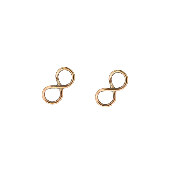 E064026 - Small Gold-Filled Infinity Post Earrings