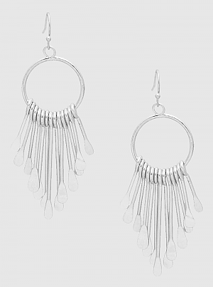 E082045 - Fashion Metal Tassel Drop Earrings