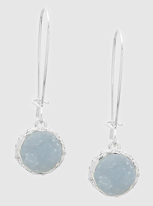 E082052 - Fashion Faux Druzy Dangle Earrings