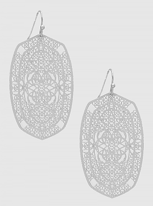 E082054 - Fashion Metal Filigree Earrings