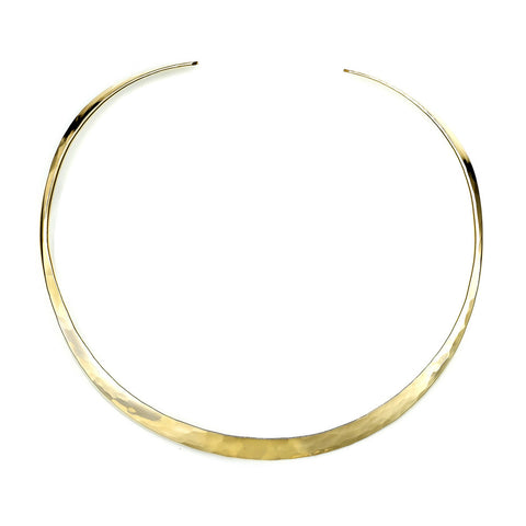 N001003* - Substantial Hammered Gold-Filled Collar