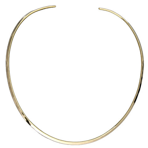 N001006* - Hammered Gold-Filled Collar