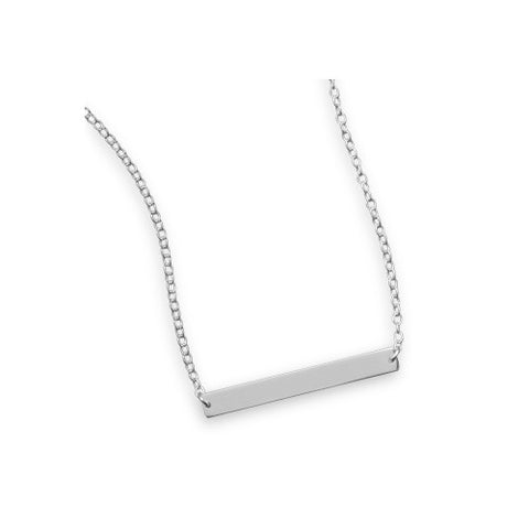 N005201 - Sterling Silver Bar Necklace