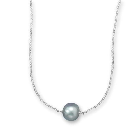 N005262* - Sterling Silver and Peacock Pearl Necklace