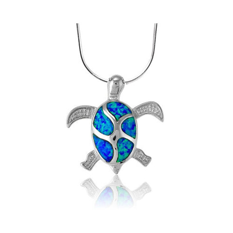 N028044 - Opal Turtle Necklace