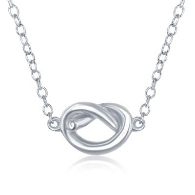 N028183* - Sterling Silver Love Knot Necklace
