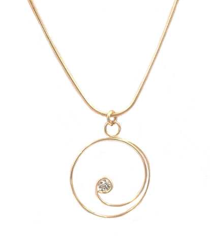 N064005* - Gold-Filled and CZ Necklace