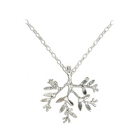 N064014 - Sterling Silver Leafy Branch Necklace