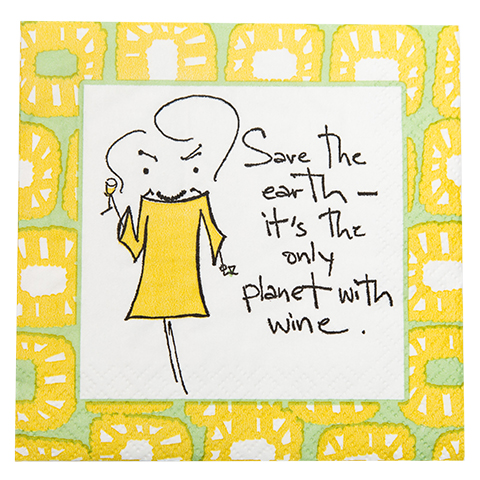 "NA077004 - ""Save the earth...."" Napkins"