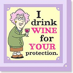 "NA078006 - ""I Drink Wine for Your Protection"" Napkins"