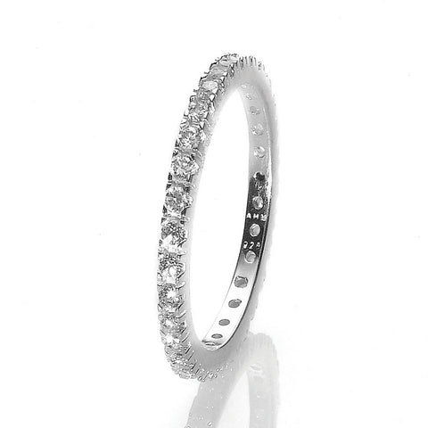 R005050 - Cubic Zirconia and Sterling Silver Eternity Ring