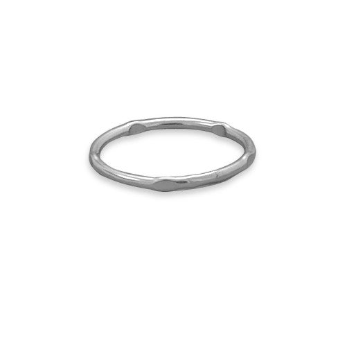 R005054* - Sterling Silver 'Dapped' Stack Ring