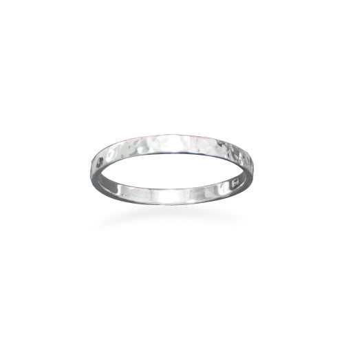 R005067* - 1.7mm Hammered Sterling Silver Stackable Band