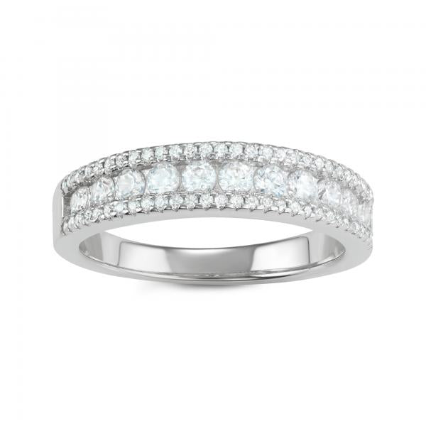 R028058 - Sterling Silver and Cubic Zirconia Ring