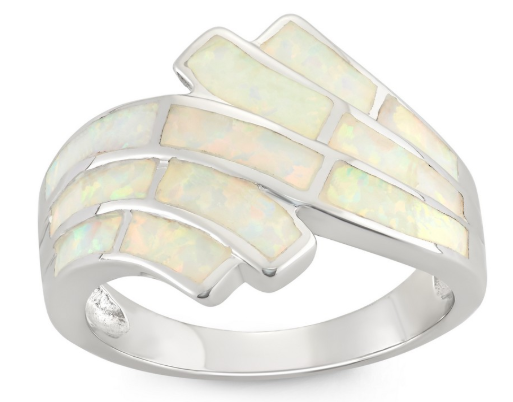 R028076 - Sterling Silver Inlay Opal Ring