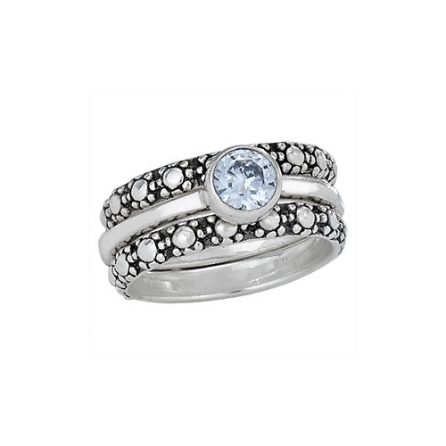 R054015 - Sterling Silver/White Topaz Ring