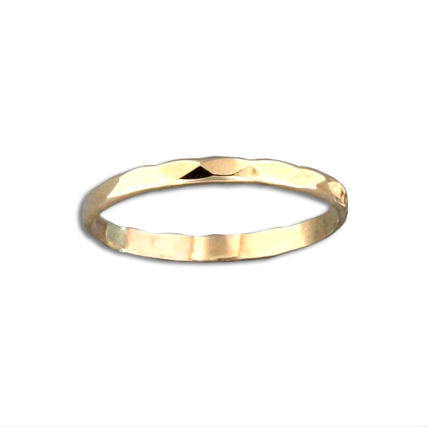 R064011 - Hammered Gold-Filled Band