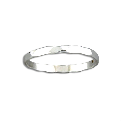 R064012 - Hammered Sterling Silver Band