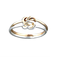 R064015 - Sterling Silver and Gold-Filled Knot Ring