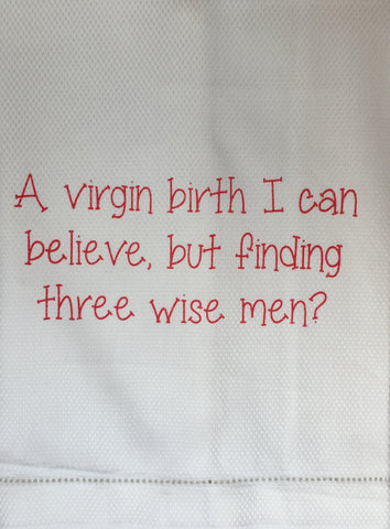 T067012 - A virgin Birth .... Tea Towel