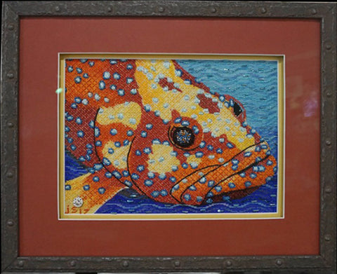 beautifully framed grouper by Purple Palm Designs